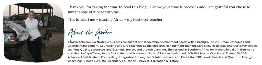 Tamsin Acheson Author, Business Coach Bristol